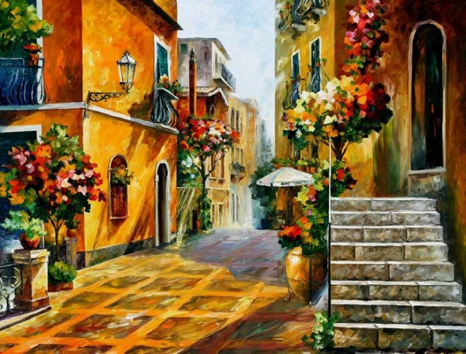 colorful painting best beautiful leonid afremov vivid colored oil acrylic water color (1)